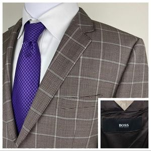 HUGO BOSS The Smith 12 Blazer Houndstooth Check